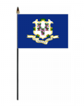 Connecticut Hand Flag - Small.